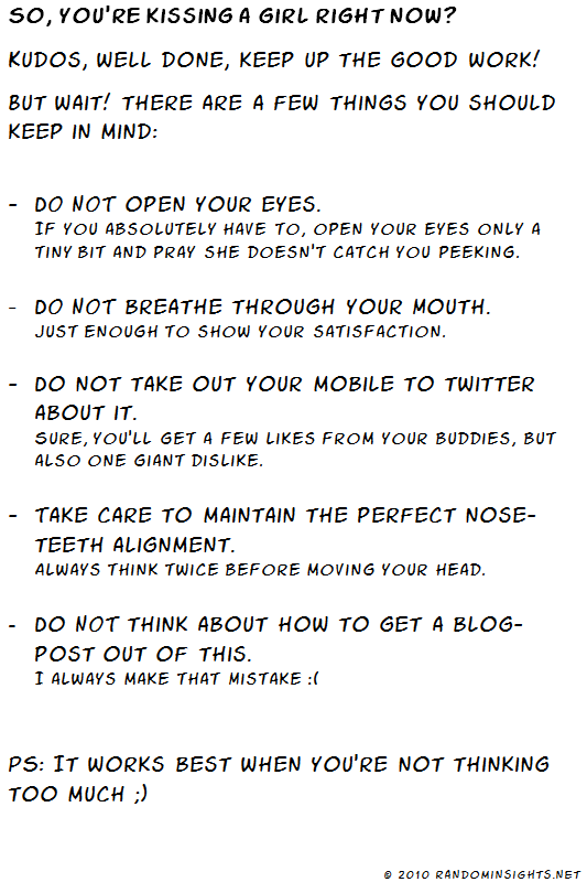 5 things you should keep in mind when kissing a girl.