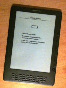 Kindle: Your battery is empty