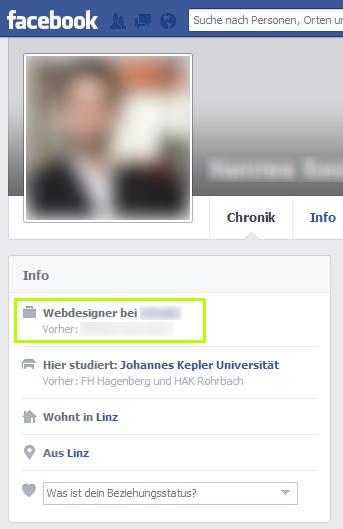 Mein Facebook-Profil auf Deutsch. Skandal!